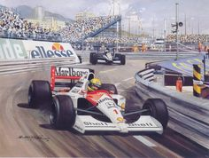 1991 Ayrton Senna painting.