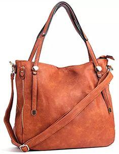 4104d1939d Women Handbags PU Leather Tote Shoulder Bags Satchel Zipper Cross Body Bags  Brown accessories fashion