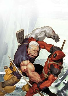 Cable vs.Deadpool by Ariel Olivetti