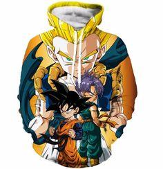 Goten Trunks Gotenks Fusion Super Saiyan Orange 3D Hoodie.   #Goten #Trunks #Gotenks #Fusion #SuperSaiyan #Orange #3D #Hoodie