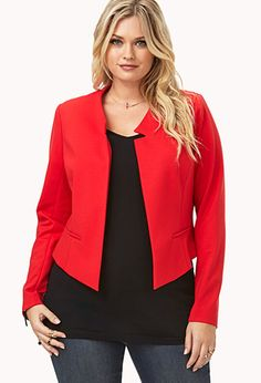 {Please, baby baby please -K Sophisticated High-Cut Blazer | FOREVER21 PLUS - 2000090060