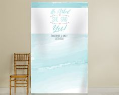 PERSONALIZED PHOTO BACKDROP – HE ASKED, SHE SAID YES