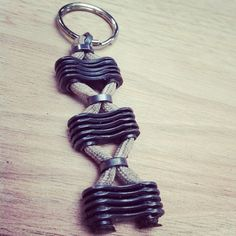 Reclaimed bike chain - key chain From ReGeared on Etsy. This would also make a great bracelet.