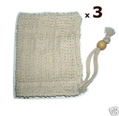 cool Lot  3 Natural Sisal Soap Saver Bag Sack Pouch Holder - For Sale View more at http://shipperscentral.com/wp/product/lot-3-natural-sisal-soap-saver-bag-sack-pouch-holder-for-sale/
