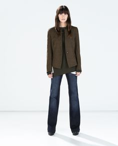 ZARA - WOMAN - BLAZER WITH CONTRAST PIPING