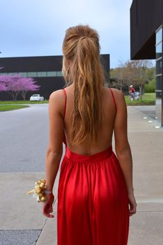 Uniquely Sarah  Contrarian Babs Bibb Maxi Dress Prom Dress Blake Lively Ponytail