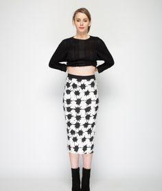 tina bodycon skirt ivy-F