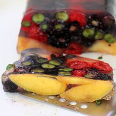 Summer Fruit Terrine is a perfect ending to any 4th of July celebration. Easy to make!