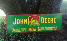 Big John Deere Quality Farm Implements 4 Leg Double Sided Sign Tractor Gas Oil in Collectibles, Advertising, Agriculture Old Signs, Agriculture, Tractors, Advertising, Oil, Ebay, Furniture, Home Furnishings, Arredamento