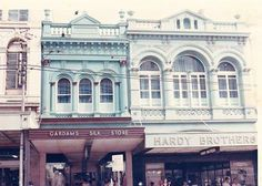 Gardams Silk Store & Hardy Brothers - Queen Street - ca.1960's Brisbane, Melbourne, Hardy Brothers, Shop Fronts, Sunshine State, Historical Photos, Ancestry, Continents, Old Photos