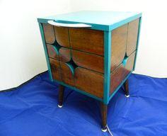 Mid Century Modern Inspired Side Table Nightstand by OrWaDesigns, 250.00 on Etsy