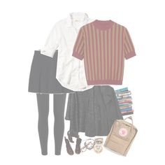 """""""SJA-ROS-At School"""" by ruthierue on Polyvore featuring 7 For All Mankind, Simone Rocha, Polo Ralph Lauren, Lands' End, Hollister Co., Mulberry, Dr. Martens, Zayiana, Ray-Ban and Fjällräven"""