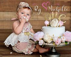 1 Year old cake smash background girl digital background Cake iDeas 🎂 Smash Cake Girl, 1st Birthday Cake Smash, Baby Girl Cakes, Baby Girl 1st Birthday, Cake Baby, 1 Year Old Birthday Party, 1st Birthday Photoshoot, Birthday Ideas, Birthday Gifts