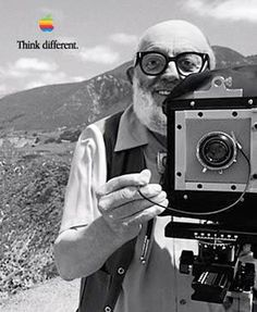 Think Different: Ansel Adams Was an American photographer and environmentalist, best known for his black-and-white photographs of the American West. Ansel Adams Photography, Camera Photography, Urban Photography, People Photography, Color Photography, Famous Photographers, Landscape Photographers, Black White Photos, Black And White Photography