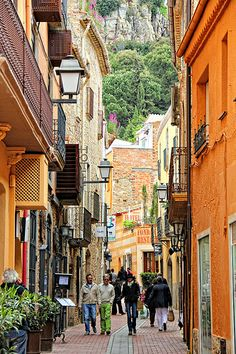 Streets of Begur. Costa Brava. Catalonia / Spain