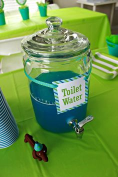 Project Nursery - Toilet Water for this Puppy Birthday Party