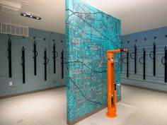 Orchard Glen, Santa Clara- new bike room with Silicon Valley wall graphic