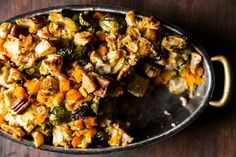 Butternut Squash, Brussels Sprout, and Bread Stuffing with Apples recipe on Food52