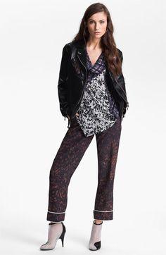 3.1 Phillip Lim Trompe l'Oeil Layered Biker Jacket | Nordstrom - what great pants!