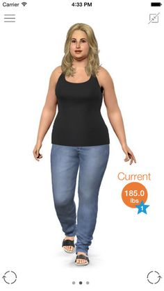 Model My Diet - Women - Weight Loss Motivation with Virtual Model Simulation by Model My Diet