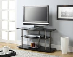 TV Stand Entertainment Center Media Furniture Console Table Cabinet Home Theater #ConvenienceConcepts #Modern