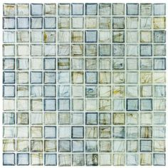 Elida Ceramica�12-in x 12-in Celestial Blue Glass Mosaic Square Wall Tile (Actuals 12-in x 12-in)