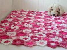 Flower Baby Blanket Floral Baby Blanket Flower by MariskaPatterns, €4.50