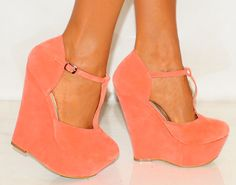 Mint Pink Summer Platform Wedge