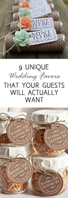 Wedding favors, wedding favor ideas, DIY wedding favors, frugal wedding schedules, popular pin, DIY wedding, wedding tips, wedding hacks,
