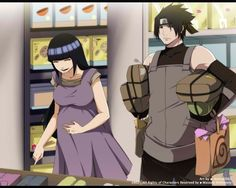 Sasuke helping out a very pregnant Hinata - who he now considers one of his special friends, of which he has few, but they are special and they will always need to be protected no matter what