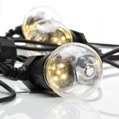 Dakke lyskæde med 10 LED lys - Klar