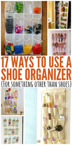 17 genius ways to use a shoe organizer to get your house clean in a jiffy.