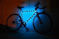 BikeGlow Safety Light is a 10' waterproof electroluminescent light tube that securely attaches to your bike frame. Runs on 2 AA batteries. Price: $25.00.