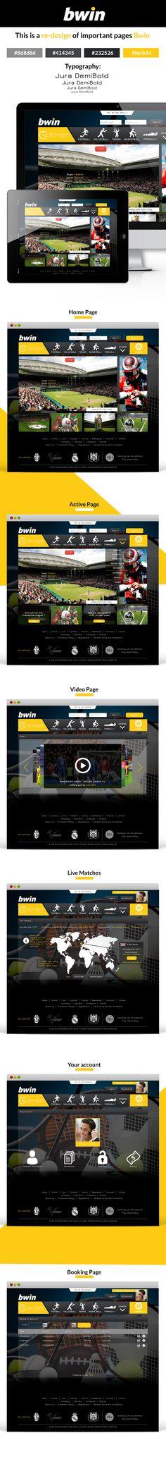 bwin re-design - Web Design on Behance
