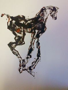 Filly Mono-print. Pascale Chandler Art Haus, Mono Print, Horse Art, Equestrian, Horses, Artists, Equine Art, Horseback Riding, Show Jumping