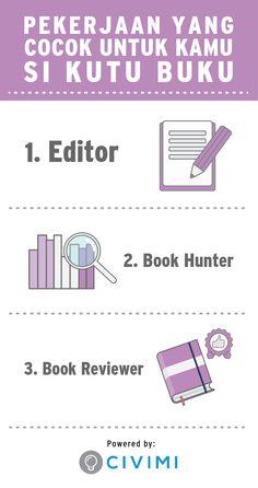 3 Pekerjaan yang Cocok untuk Kamu si Kutu Buku (Infographic)