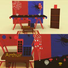 Projeto 3d festa homem aranha