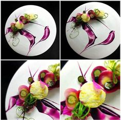 gorgeous plating for dessert.  Sorry, there's no recipe