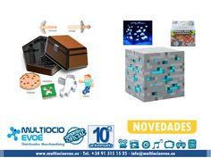 MINECRAFT - CORTADOR DE GALLETAS, LÁMPARAS, LINTERNAS y FUNDAS - LICENCIA OFICIAL - Fecha estimada de entrega AGOSTO. MINECRAFT - CORTADOR DE GALLETAS - PACK SHIP READY Material: metal. Presentación: caja. Medidas: 7,6cm. MINECRAFT - LÁMPARA - DIAMOND ORE AZUL Material: PVC. Presentación: caja. Medidas: 10x10x10cm. Necesita dos pilas AA no incluidas. http://www.multiocioevoe.es
