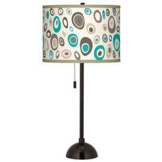 Stammer Giclee Glow Tiger Bronze Club Table Lamp