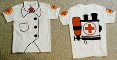 TF2 Medic TShirt by ChristinesMagicArts on Etsy