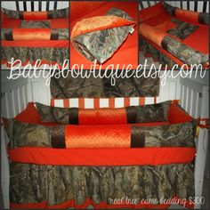 Real Tree Camo Bedding. I really want this for my baby!!