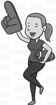 Woman Cheering On A Football Team #athlete #cheer #cheering #dejected #elated #euphoric #exhilarated #exultant #exulting #fan #fanmerchandise #female #femaleperson #foamhand #football #fun #giantfoamhand #gladdened #gleeful #happy #high #inhighspirits #joyful #joyous #jubilant #lady #looker #merchandise #play #ponytail #pump #recreation #rejoicing #single #somebody #someone #spectator #spectatorpump #sport #sports #sportsfan #sportsmerchandise #sublime #triumphant #uplifted #viewer #watch…