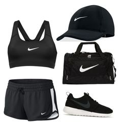 """NIKE GYM DAY"" by misstwinkletoes04 ❤ liked on Polyvore featuring NIKE"
