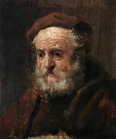 Rembrandt Study Head of an Old Man oil on wood 21 x 18 cm Metropolitan Museum of Art, New York Rembrandt Paintings, Dark Paintings, Anthony Van Dyck, Baroque Painting, Great Works Of Art, Dutch Painters, Famous Art, Dutch Artists, Gravure