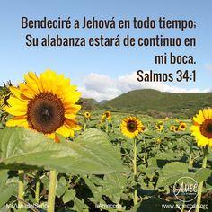 #MañanadelSeñor #AMECCDA Bendeciré a Jehová en todo tiempo; Su alabanza estará de continuo en mi boca. Salmos 34:1