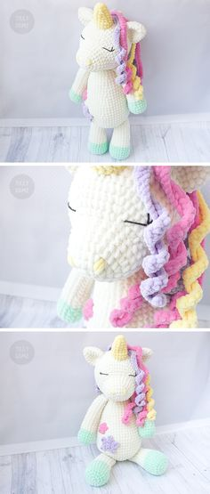 Big Plush Unicorn Crochet Pattern | Large Crochet Toy Pattern | Plush Unicorn Pattern | Crochet Cuddle Pattern