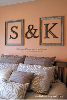 My Side? Put your name on it with this cool Initial Idea for couples bedroom inspiration