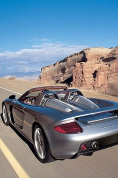 Porsche Carrera GT silver car