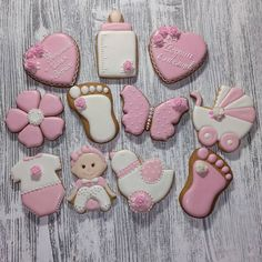 Baby Girl Cookies, Baby Shower Cookies, Baby Shower Favors, Cookie Icing, Royal Icing Cookies, Cupcake Cookies, Elephant Cookies, Best Sugar Cookies, Cute Desserts